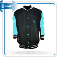 Var-105-3 wholesale plain winter varsity jacket/baseball jacket