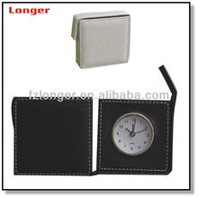 plastic analog clock with PU leather holster LG2039