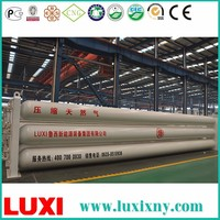 Cng Tubes Skid Container/Gas Container Steel Cylinder Cng Container , 8 Tube Cng Trailer