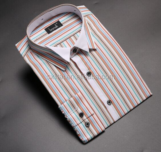 spring and summer white casual man shirt with silk feeling