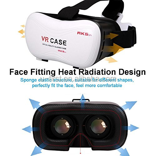 Factory Price Virtual Reality see a movie 3D Glasses VR Headset VR Box 3D Glasses for Smart Phone