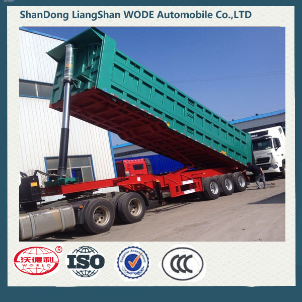 ISO9001:2008 Cartification and semi-trailer type tipper truck trailer