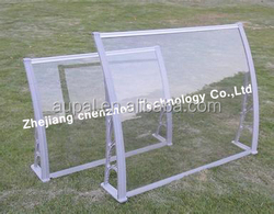 Outdoor canopy metal roof modern polycarbonate canopy Aluminum canopy with beautiful style for door and balcony