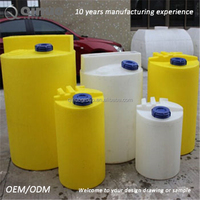 Acidity resistant plastic chemical storage dosing tank