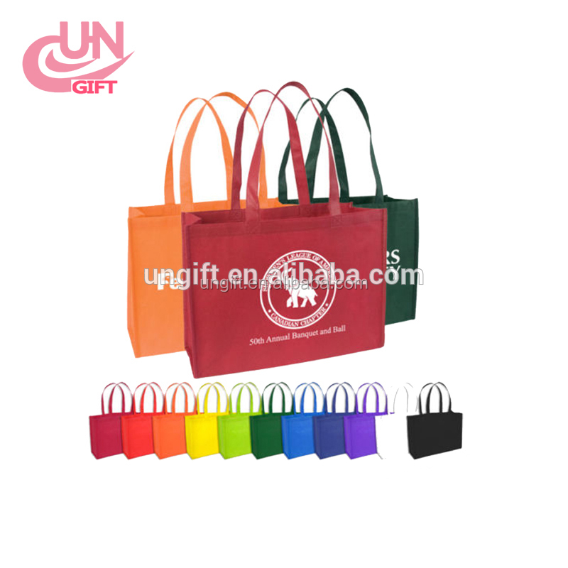 Promotional Imprinted Reusable Non Woven Tote Bags With Any Logo