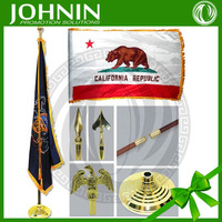 china wholesale table top desk flag with metal pole and base