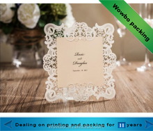 Alibaba cheap custom elegant logo design wedding invitation card for sale