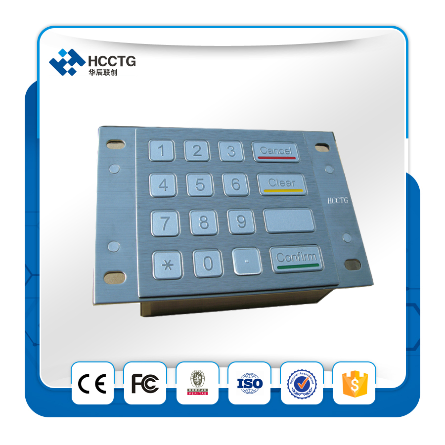 High Quality ATM Metal Numeric Keypad HCC3501A