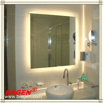 Luxury Hotel Furniture Bathroom Led Lighted Mirrors Vanity Mirror 16 Years Supply For Hotels