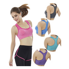 Good comfort wicking fitness wear 88 nylon 12 spandex level-3 shockproof ladies seamless support sports bra for women