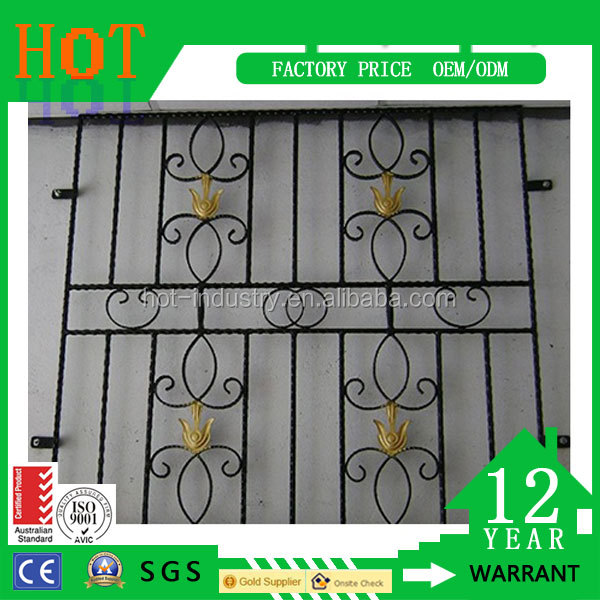 High Quality Door & Window Grates Type and Steel Material Iron Grill Window Pattern Designs Wrought Iron Window Grill Design
