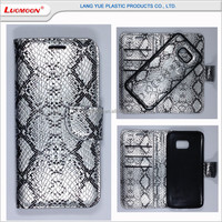 Snakeskin Pattern Leather Flip Separate Wallet Case Cover For Samsung Galaxy s3 s4 s5 s6 s7 edge plus