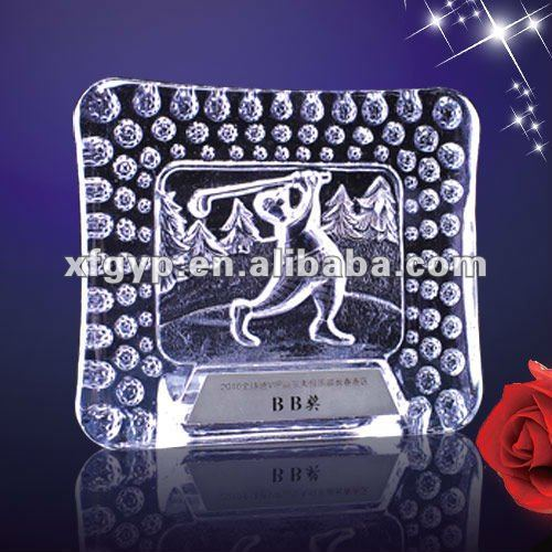 baby golf Crystal photo frame Trophy Cup plaques