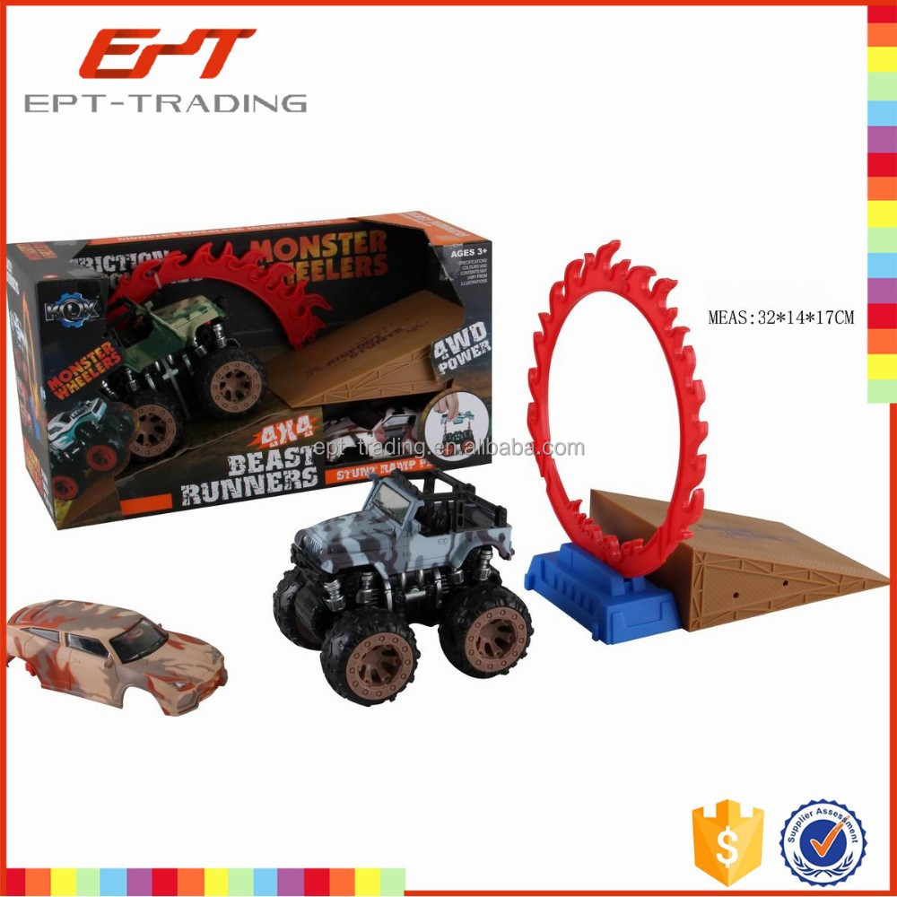 Friction toys mini truck 4wd friction power car toys for kids