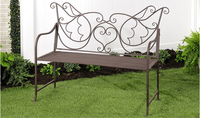 IRON LOVE BIRDS DESIGN GARDEN BENCH