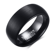 Best Selling Engagement Band Comfort Fit Black Plated Middle brushed Edges Polished Black Tungsten Carbide Ring