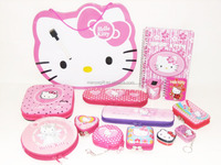 hello kitty series multi function tin pencil case cute pencil box gift with zipper