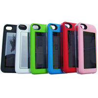 Iphone Solar Charger 2400mAH 5V 1A Enerplex Solar Charging Battery Case for the iPhone 4 and 4S