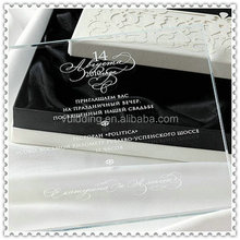 Wedding Cards Engraved Glass Invitation For 2015 Party Favor
