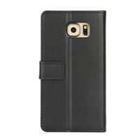 High Quality Business style insert card holder function flip stand leather case for samsung s6 case