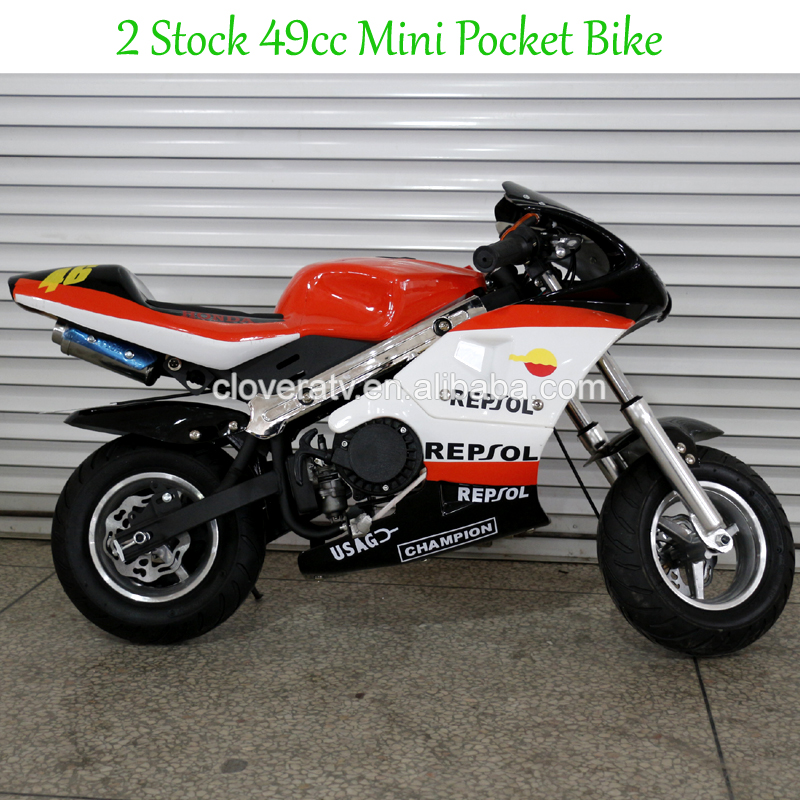 Gas Powered Chopper 49cc Mini Pocket Bike with Fast Speed