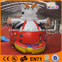 New inflatable air blown toy for Christmas/inflatable pop up belly cow