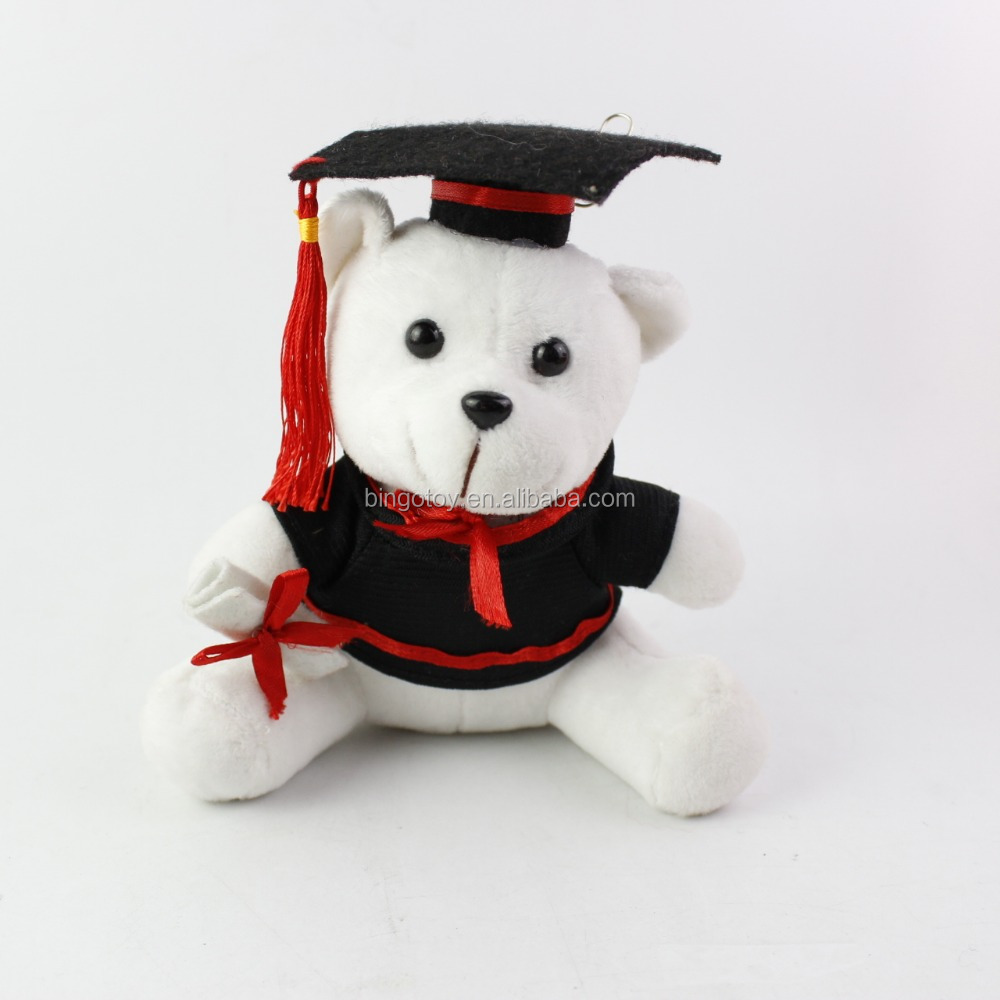 2016 High Quality Hot sale OEM factory pp cotton wholesale soft custom white Graduation Teddy bear