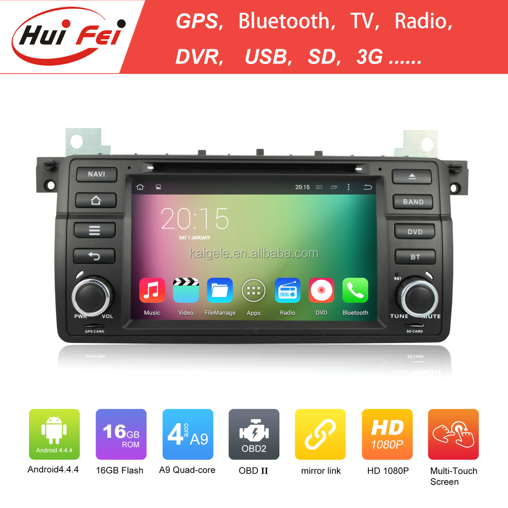 Capacitive Touch Screen Car Radio 2 Din Car Raido For BMW E46 Hui Fei Brand Car DVD Player