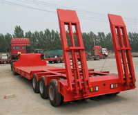 Low price width extendable flat low bed semi trailer