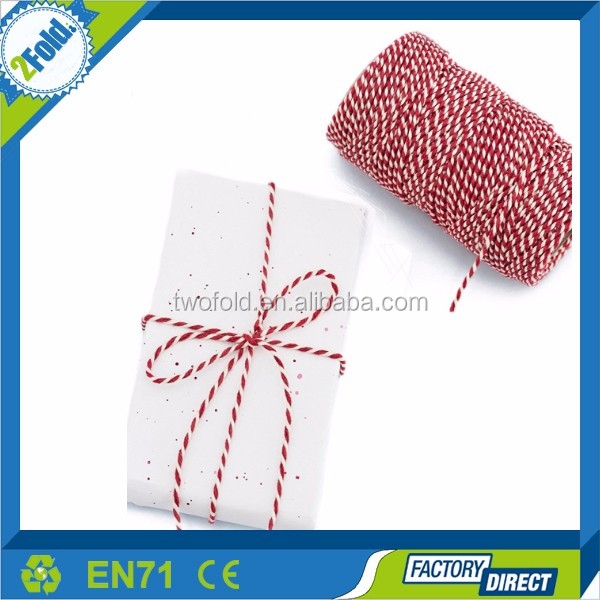 Red and White Packing String Durable Rope for Silverware DIY Crafts Gift Wrapping, for Art and Crafts
