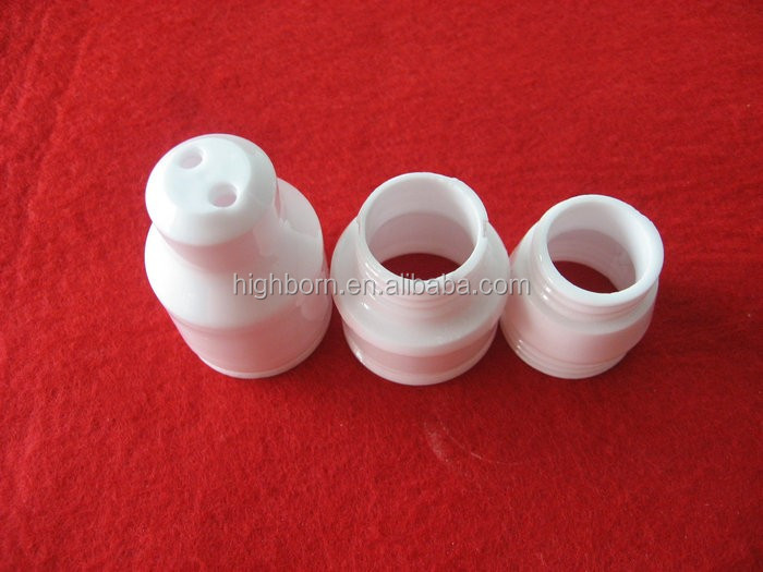 Glazed alumina ceramics LED lamp holder