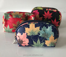beautiful high quality printed pu travel makeup bag ladies