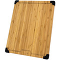 Convenient Handle,Non Slip Bamboo wood Cutting Board-Eco-Friendly Chopping Board Featuring Juice Groove