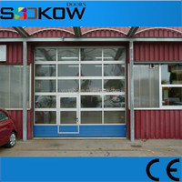 sectional automatic plexiglass door/tempered glass 4s store garage door/buy aluminum garage doors