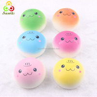 Cute Expression Squishy Charms Soft Buns Cell Phone Key Chain Bread Straps
