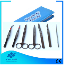 dissection equipment,Seven Pieces Laboratory Anatomy Medical Dissecting tools Kit