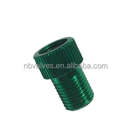 Aluminum alloy bike Tire valve adapter,presta to schrader
