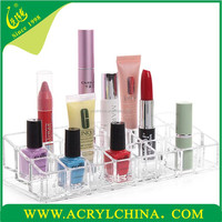 acrylic cosmetic case, clear plexiglass makeup container with 3 layers, plexiglass makeup display
