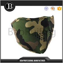 Manufacturers selling Factory production sports camo neoprene half face sport bike face mask