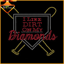 I like Dirt On My Diamonds rhinestone transfer design Custom Different Sports Motif