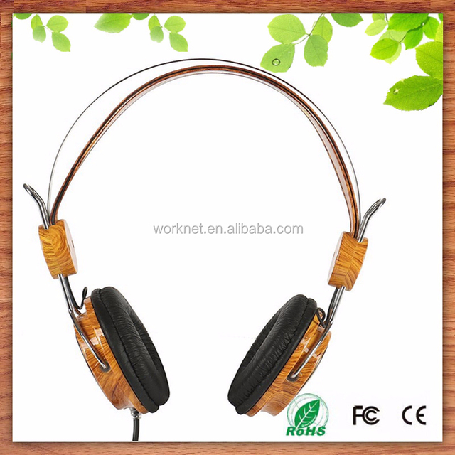 cheap price sound magic best stylish wood headphones with volume control, wooden headphone wholesale