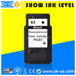 Refill ink cartridge compatible for Canon PG83 printer inkjet cartridge