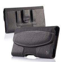Horizontal Leather Belt Clip Flip Wallet Case For Iphone 5.5inch Waist Pouch Holster phone Case
