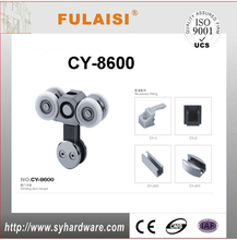 FULAISI aluminium doors and windows accessories sliding glass shower door hardwar edouble hanging wheel SG-8600 from zhaoqing
