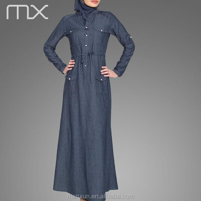 Denim maxi dress malaysia
