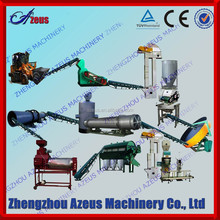 Organic fertilizer manufacturing plant/organic manure fertilizer equipment/organic fertilizer manufacturing process