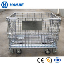 Galvanized metal stacking 1200*800*890mm standard foldable rolling cages