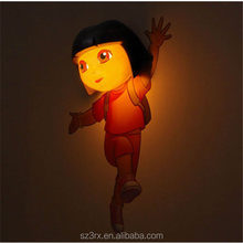 Custom size 3D FX Deco LED Night Light Dora the Explorer Wall Home Decoration Gift