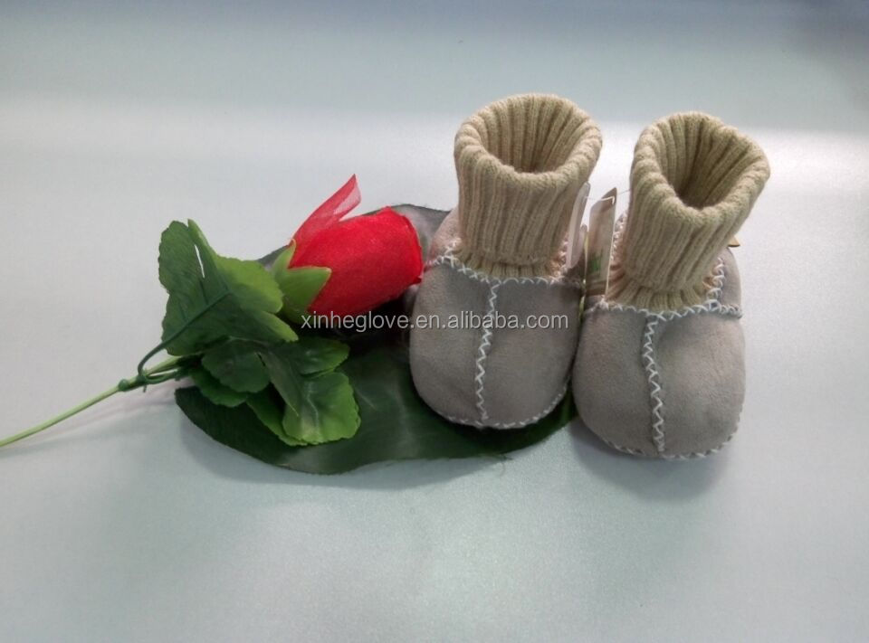 100% fur skin baby shoes