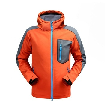 Autumn Red Oem Mens Waterproof Mountain Softshell Jacket